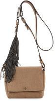 Brunello Cucinelli Small Flap Fringe Crossbody Bag
