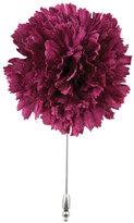 Cinabre Silk Carnation Flower Lapel Pin