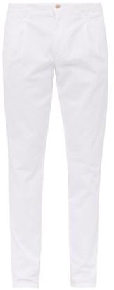 Altea Slim Leg Cotton Blend Chino Trousers - Mens - White