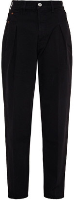 RE/DONE Pleated High-rise Tapered Jeans