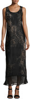 Lafayette 148 New York Palmer Sleeveless Paisley-Print Silk Maxi Dress, Multi