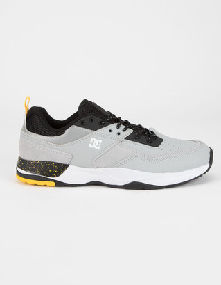 DC E. Tribeka SE Black Gray & Yellow Shoes