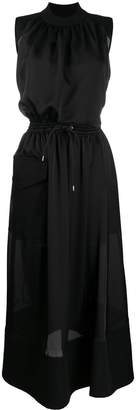 Sacai drawstring maxi dress