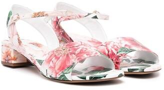 Dolce & Gabbana Kids TEEN floral-print sandals