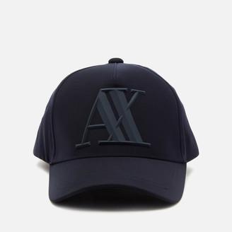 Armani Exchange Men's Rubber Logo Cap - Navy