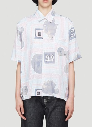 Aries Scarf Print Short-Sleeved Shirt