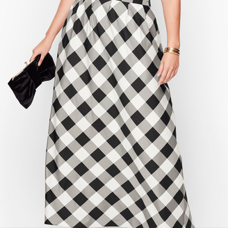 Talbots Buffalo Check Pleated Maxi Skirt