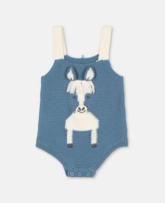 Stella Mccartney Kids Horse Intarsia Knit Body, Unisex