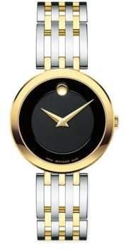 Movado Esperanza Stainless Steel& Goldtone Watch