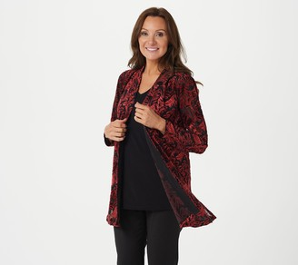 Susan Graver Occasion Regular Knit Cardigan & Knit Tank Set