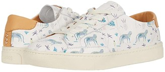 Soludos Blue Leopard Sneaker (White) Women's Shoes