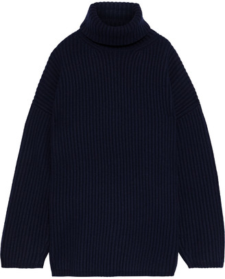 Acne Studios Disa Oversized Ribbed Wool Turtleneck Sweater
