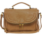 Asos Satchel Bag With Zip Flap