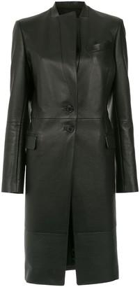 Gloria Coelho leather trench coat