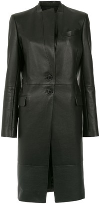 Gloria Coelho Leather Trench Coat