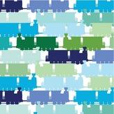 Avalisa Train Pattern Stretched Print