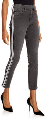 Etienne Marcel Athletic Striped Slim-Straight Jeans