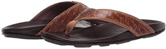 OluKai Hikianalia (Tan/Dark Java) Men's Sandals
