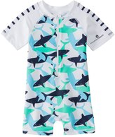 Snapper Rock Boys' Shark S/S One Piece Sunsuit (024mos) - 8155114