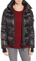 S13/Nyc Women's S13 'Kylie' Metallic Quilted Jacket With Removable Hood