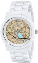 Sprout Women's ST5030TNWT Diamond Accented Dial and White Corn Resin Bracelet Watch