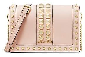 MICHAEL Michael Kors Women's Large Jet Set Studded Leather Crossbody Bag