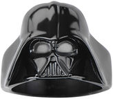 Star Wars FINE JEWELRY Darth Vader Mens Stainless Steel and Black IP 3D Ring