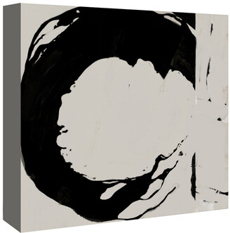 American Flat Americanflat Black And Taupe Abstract 4 By Kasi Minami Canvas Artwork