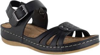Easy Street Shoes Adjsutable Comfort Sandals - Rosalyn