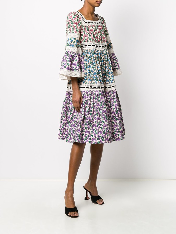 Thumbnail for your product : Marc Jacobs Floral Print Crochet Dress