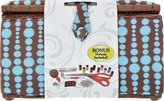 Singer 12 by 9 by 7.25-Inch, Blue Dots-Inch Sewing Basket, X-Large