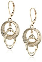 Anne Klein Gold-Tone Plated Multi-Disc Drop Earrings