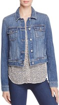 Paige Vivienne Denim Jacket in Medium Blue