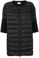 Moncler wool-panelled jacket - women - Polyamide/Virgin Wool/Feather/Goose Down - S