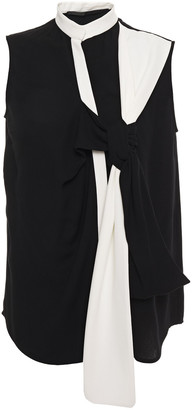 Haider Ackermann Knotted Two-tone Crepe Top