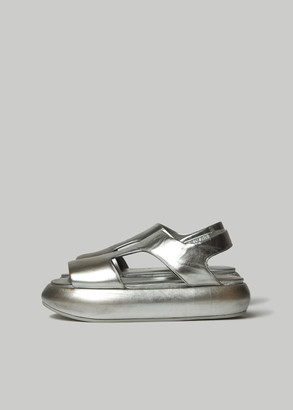 Marsèll Women's Ciambellona Sandal in Silver Size 36 Calfskin Leather/Rubber