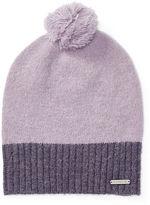 Ralph Lauren Two-Toned Knit Pom-Pom Hat