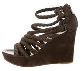 Sigerson Morrison Suede Wedge Sandals