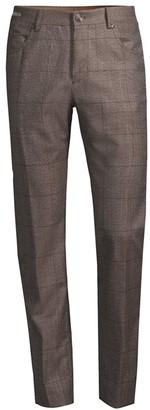 Corneliani Five-Pocket Plaid Wool Pants