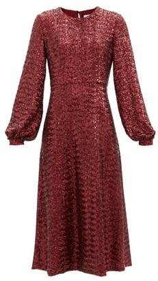 Borgo de Nor Zelda Sequinned Midi Dress - Burgundy