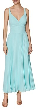 Laundry by Shelli Segal Pleated Chiffon Midi Dress
