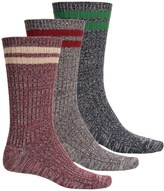 Muk Luks Microfiber Socks - 3-Pack, Crew (For Men)