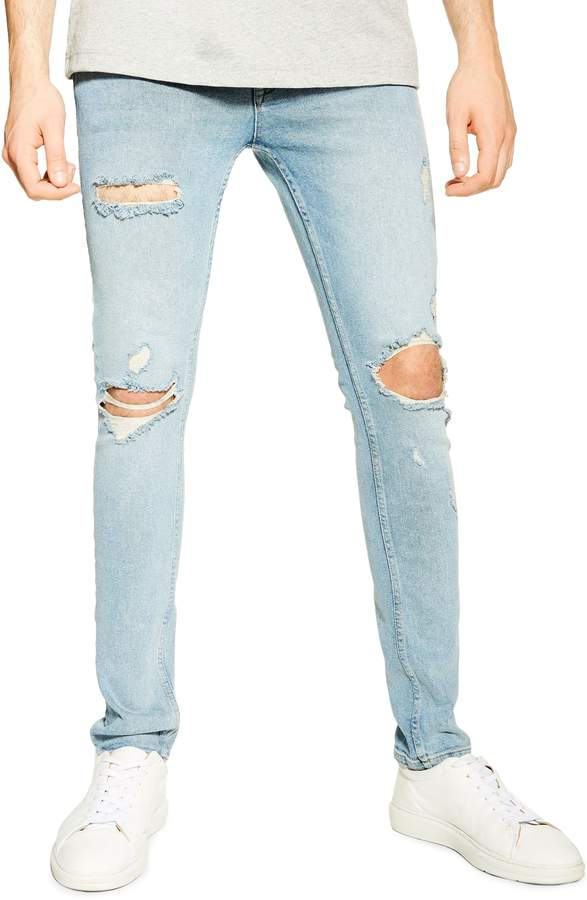 040854bb67aa4f Faded Ripped Jeans Men - ShopStyle