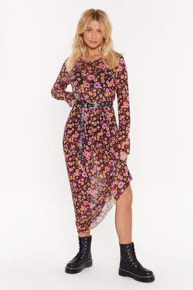 Nasty Gal Womens Best Days of Flowers Lives Floral Maxi Dress - black - 6