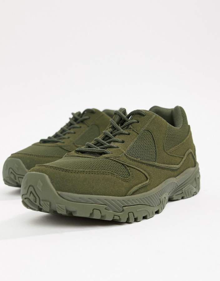 official photos d97d5 f744e Design DESIGN sneakers in block khaki chunky sole