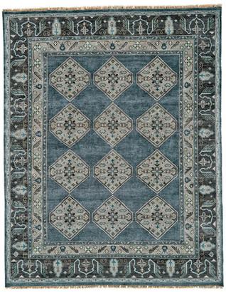 "Alden Weave & Wander Rug, Dark Blue/Gray, 9'6""x13'6"""