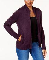 Karen Scott Long-Sleeve Zip Cardigan, Only at Macy's