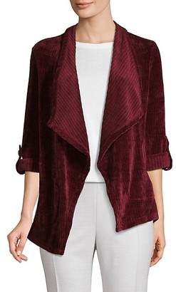 BB Dakota Ribbed Velvet Open-Front Jacket