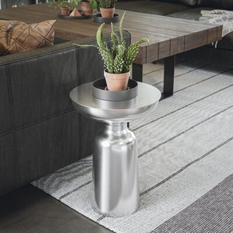 Wildon Home Spinet Chord End Table Color: Brushed Steel