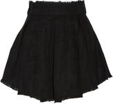 IRO Acanta pleated linen-jacquard mini skirt